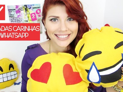 ✄ DIY: Almofadas Carinhas do Whatsapp | DIY: Cushion Emoticons of Whatsapp | Iryane Carollyne