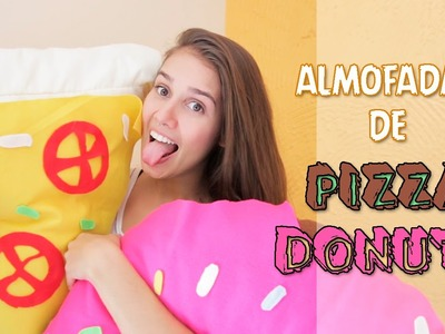 DIY:: Almofadas decorativas, Pizza & Donuts