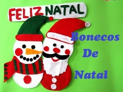 DIY Bonecos de natal feitos com cds e dvds(boneco de neve e papai noel)