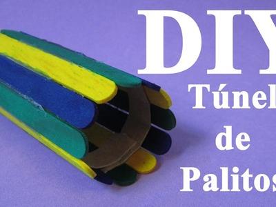 DIY: Brinquedos para Hamster -Túnel de Palitos- (DIY Hamster Toys -Popsicle Stick Tunnel-)