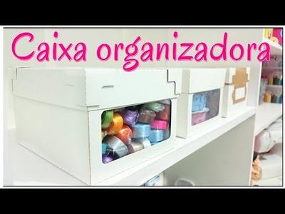 DIY. Caixa organizadora faça a sua de forma simples e fácil