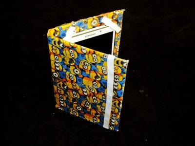 DIY capa para o seu tablet dos minions # 50 recilavel de agenda velha