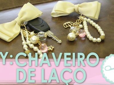 DIY Chaveiro Laço e Pérola - wFashionista