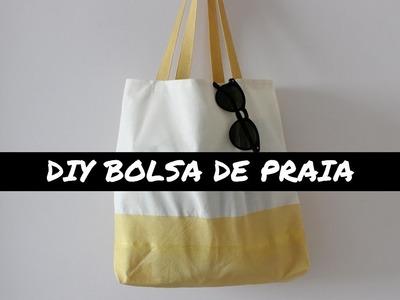 DIY | COMO FAZER BOLSA DE PRAIA PERSONALIZADA