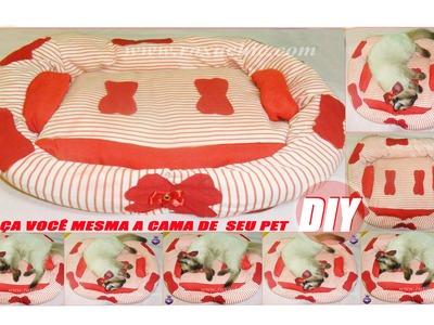 ✂DIY | Como Fazer Cama de Pet (Gato, Cachorro. ) Feita com Casaco. Sueter