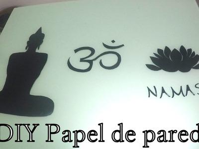 ✄  DIY: Como fazer papel de parede em casa (desenho ou frase)