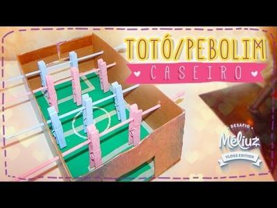 DIY - Como fazer Totó.Pebolim de caixa de sapato