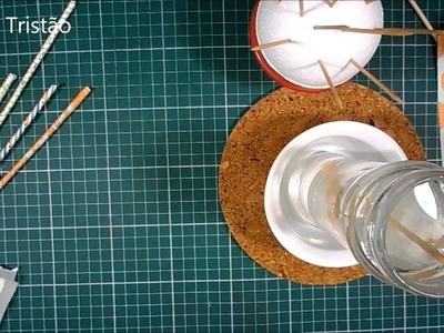 DIY - Como fazer um canudo decorado - Quase sessenta - Didi Tristão