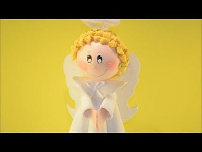 DIY - Como fazer um fofucho anjinho em EVA.