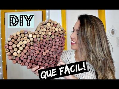 DIY | CORAÇÃO COM ROLHAS
