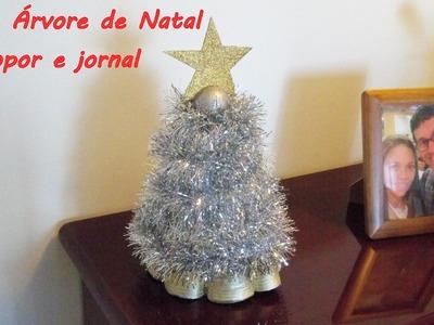 DIY: Faça você mesmo - Árvore de Natal com jornal
