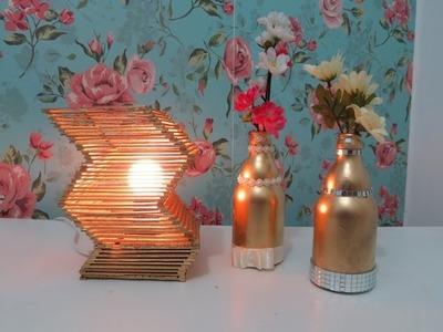 DIY - Luminária. Abajur de Palito de Picolé