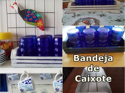 Diy - Pátina Provençal em Bandeja Reciclada - Como fazer - Caixote - Ilton Gomes e Graça Tristão