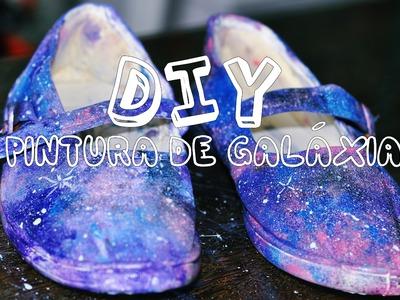 DIY :: Pintura de Galáxia ♥ faça você mesmo ♥