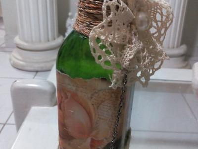 DIY: Recicle uma garrafa para decorar sua casa com estilo bem rústico