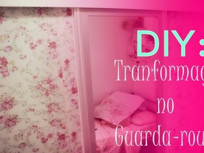 DIY.: Revestindo o guarda-roupa com papel de parede Decoratons