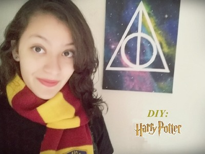 DIY Room Decor: Deathly Hallows Galaxy.Símbolo das Relíquias da Morte Galáxia (Harry Potter)