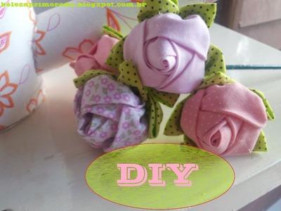 DIY Rosa de Tecido