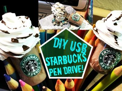 "DIY STARBUCKS USB Pen Drive! ""Opções De Presente"""