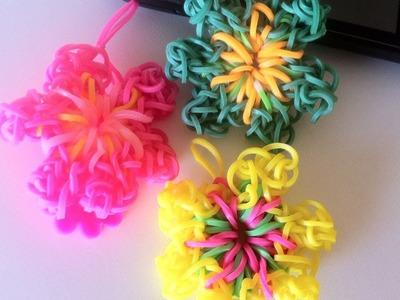 Pulseiras de Elásticos Rainbow Loom: Como fazer uma flor grande com elásticos (6 pétalas)
