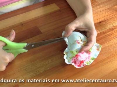 Sachê de coração - Artesanato - Ateliê Centauro - Artesã Flávia Castanheira