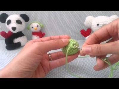 Tutorial - Como terminar as partes do amigurumi - Vídeo 4