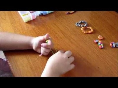Tutorial de Pulseira  e Anel Zig Zag - feitas nos dedos - PARTE 1
