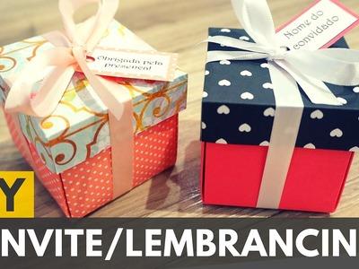 Caixinha para convite ou lembrancinha de aniversário |DIY - Faça você mesmo