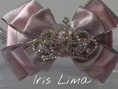 Como fazer laço com três camadas D.I.Y. ,Tutorial , Pap By Iris Lima How To Make a Hair Bow