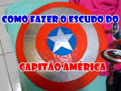 Como Fazer o Escudo do Capitão América muito Fácil  (de ventilador)-DIY