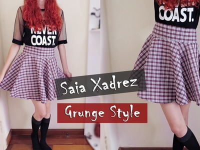 D.I.Y. Saia Xadrez Rodada - Grunge Style