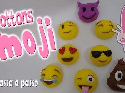 DIY - Bottons Emoji em Biscuit - Sah Passa o Passo