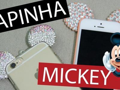 [DIY] Capinha de Celular Mickey com Biscuit e Strass - wFashionista