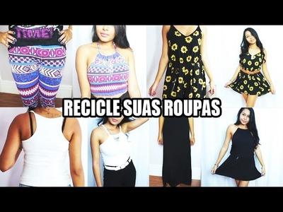 DIY tranforme roupas em modelos diferentes - customização