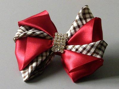 Laço diferente para varias ocasiões -D.I.Y ,PAP, TUTORIAL -Satin ribbon bow