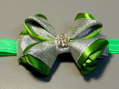 Lindo laço de fitas de gorgurao e cetim- D.I.Y. TUTORIAL,PAP- Satin ribbon bow