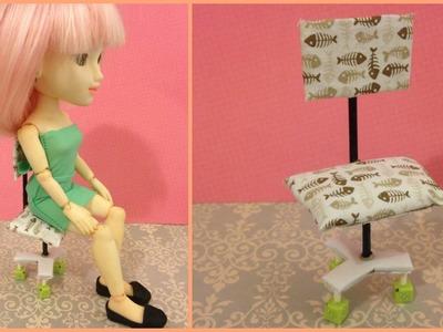 DIY - Como fazer uma cadeira de escritório para bonecas
