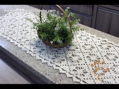 Caminho de Mesa em Croche Aranha - Aprendendo Crochê