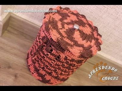Capa Crochê Lixeira Banheiro - Aprendendo Croche