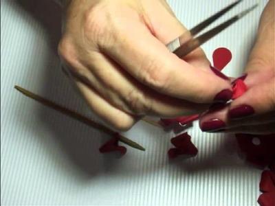 Como fazer rosa de papel