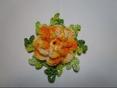 Crochê Flor  para  Tapetes e Aplicações