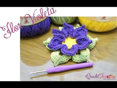 Crochê - Flor Violeta
