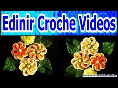FLORES EM CROCHE FLOR DE ARGOLAS MODELO DOIS - 052