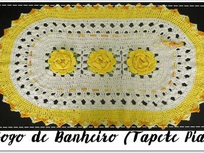 JOGO DE BANHEIRO AMARELO- TAPETE PIA
