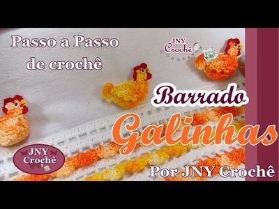 PAP de crochê Barradinho Galinhas por JNY Crochê