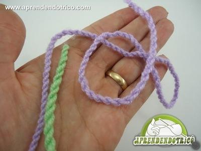 Cordão Torcido - Aprendendo Tricô Manual