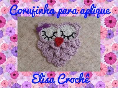 Corujinha para aplique (  2 parte final) # Elisa Crochê