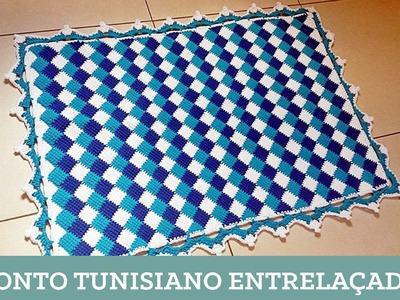 Criações em Crochê: Ponto Tunisiano Entrelaçado | Luciana Ponzo