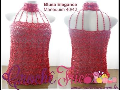 Crochê para Canhotas - Blusa Elegance