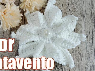 Flor de crochê - Catavento